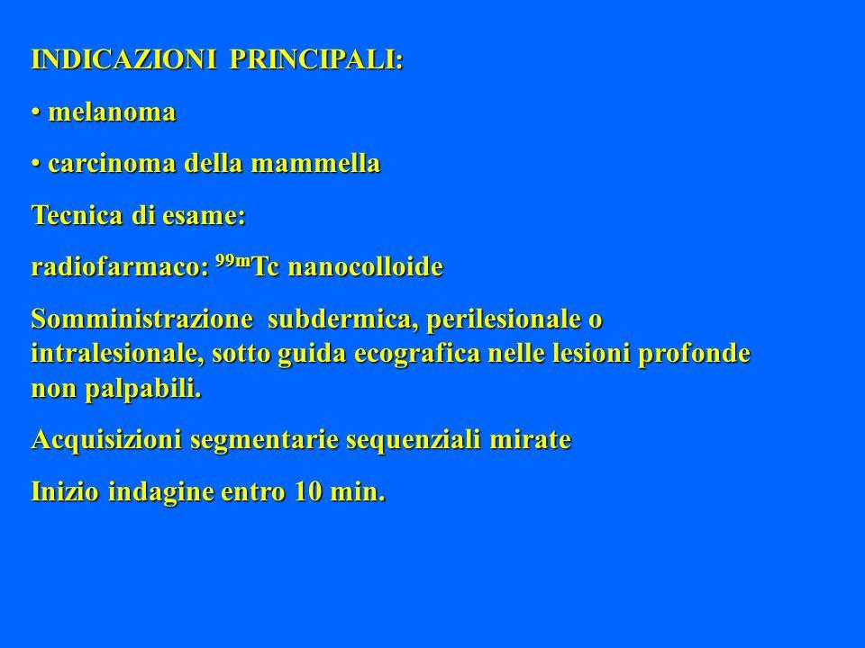 INDICAZIONI PRINCIPALI: