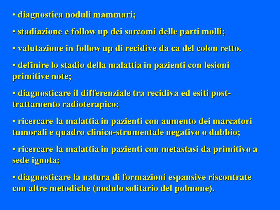 diagnostica noduli mammari;