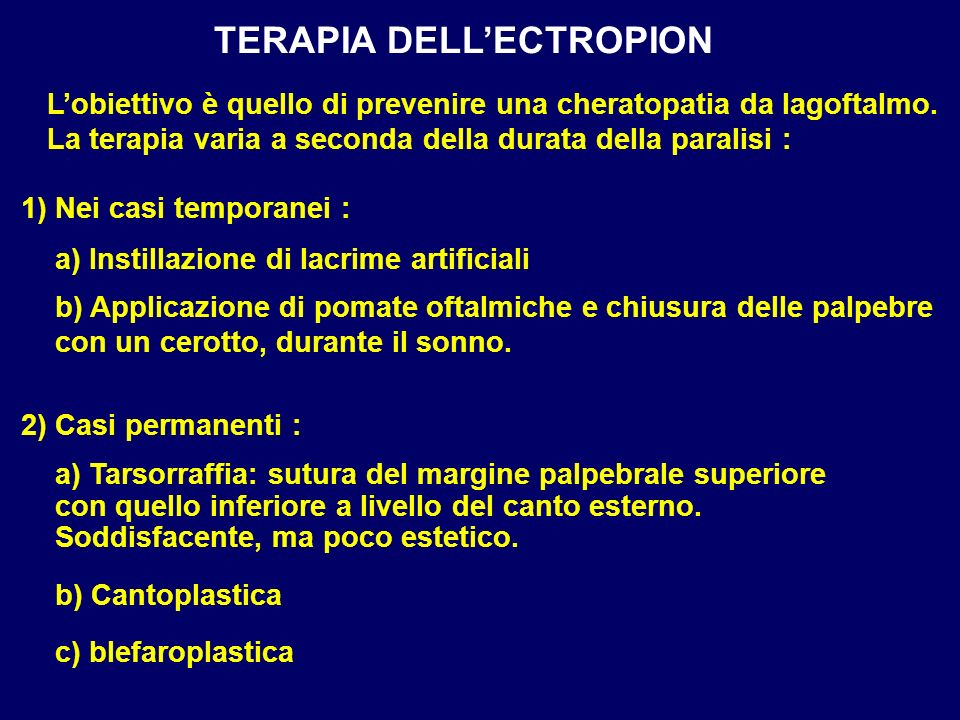 TERAPIA DELL'ECTROPION