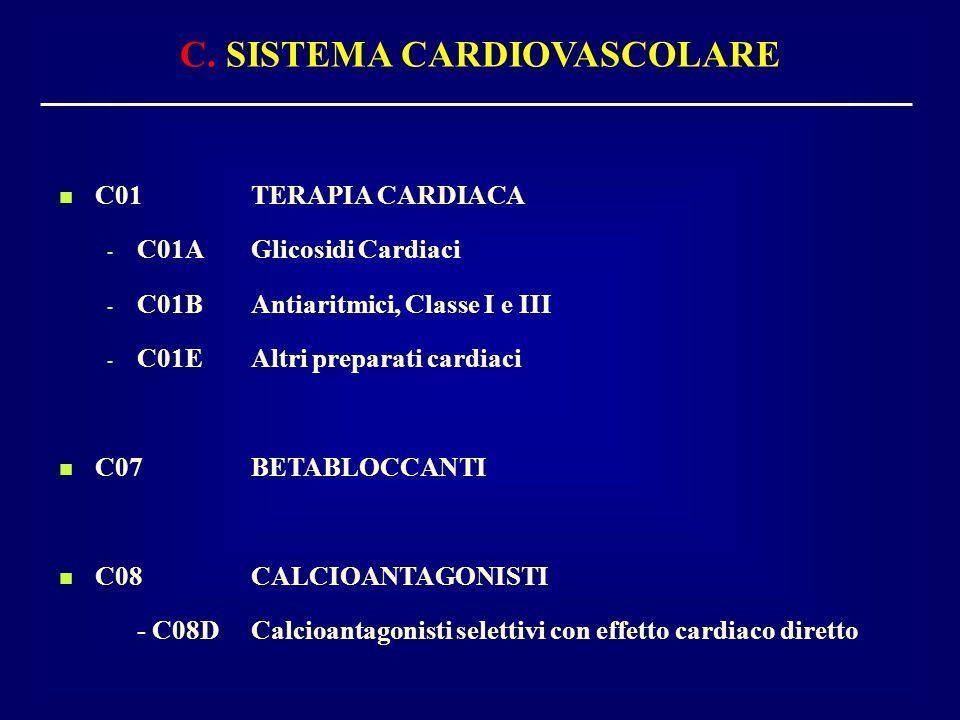 C. SISTEMA CARDIOVASCOLARE
