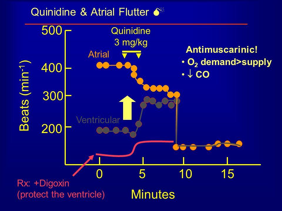 Quinidine & Atrial Flutter 