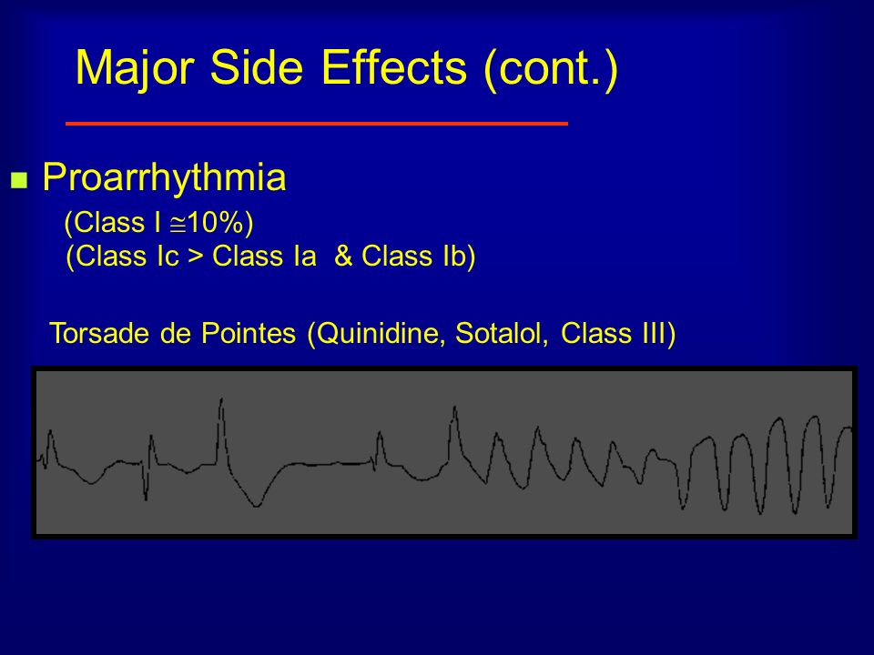 Major Side Effects (cont.)