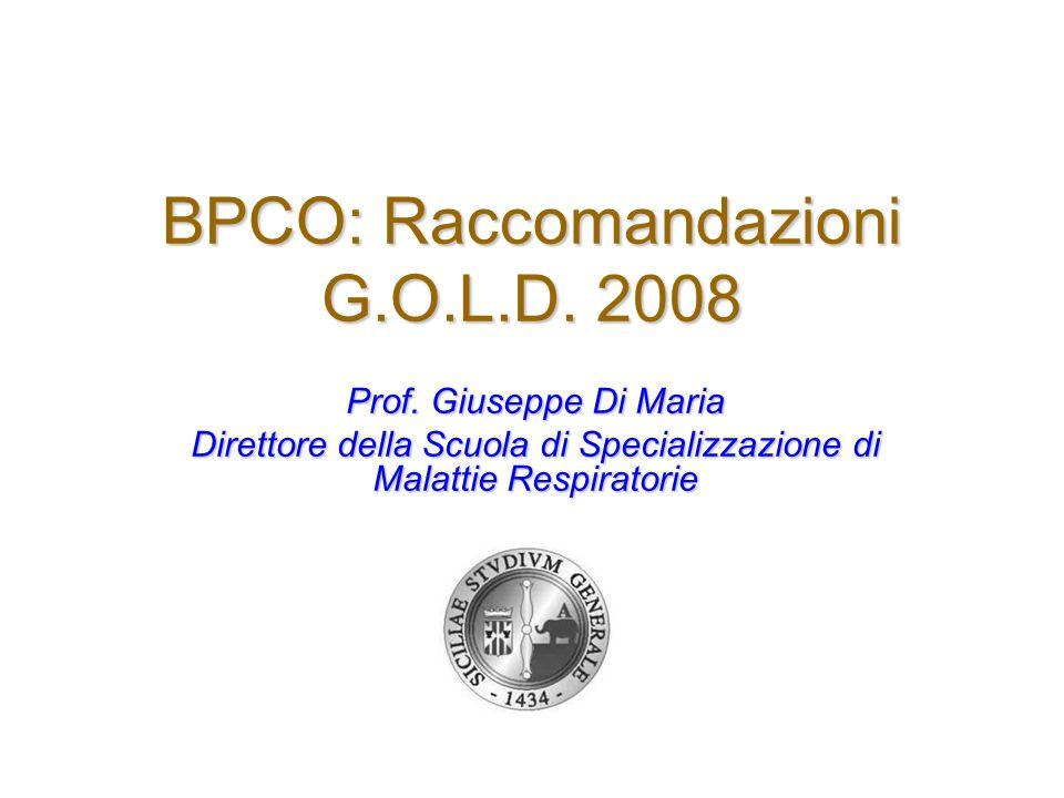 BPCO: Raccomandazioni G.O.L.D. 2008