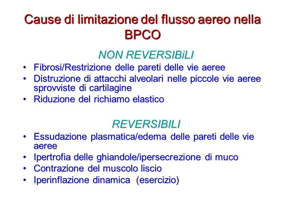Cause di limitazione del flusso aereo nella BPCO