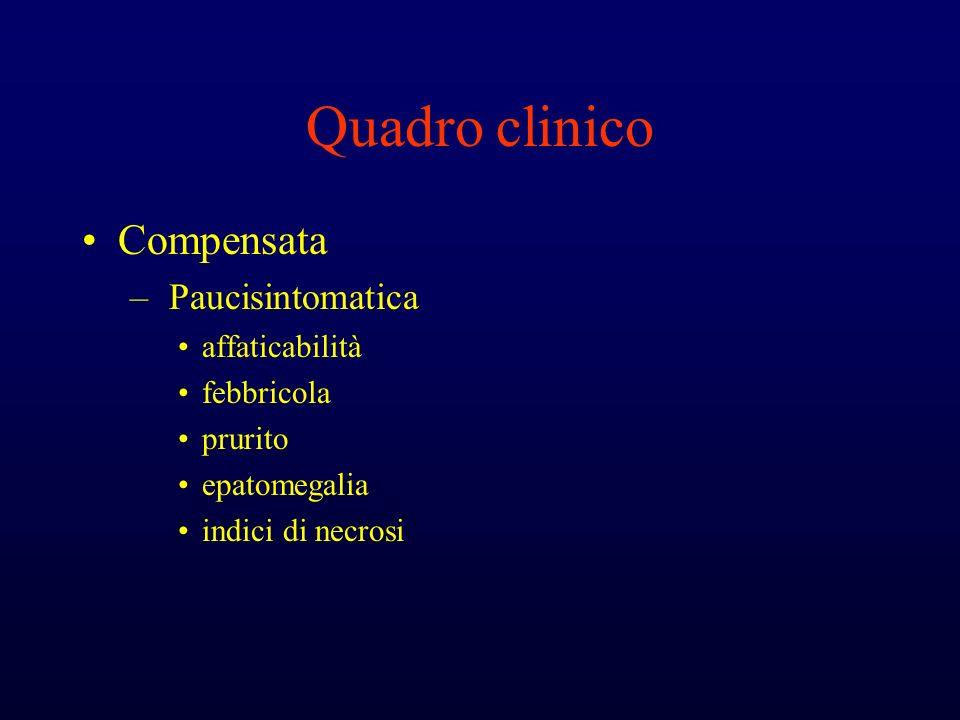 Quadro clinico Compensata Paucisintomatica affaticabilità febbricola