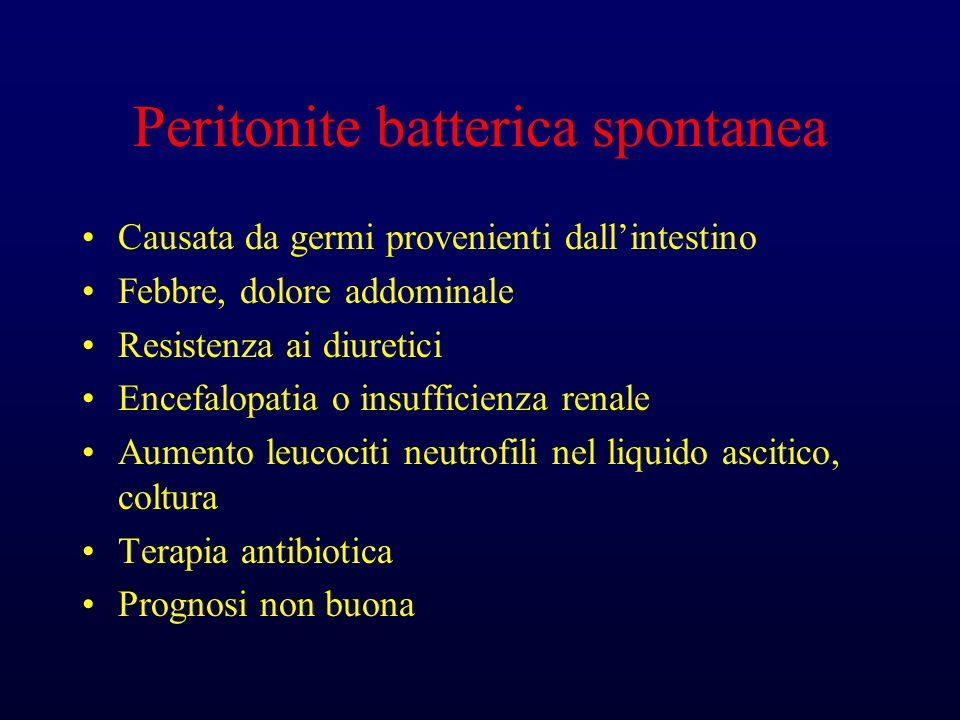 Peritonite batterica spontanea