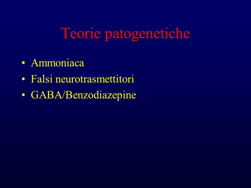 Teorie patogenetiche Ammoniaca Falsi neurotrasmettitori