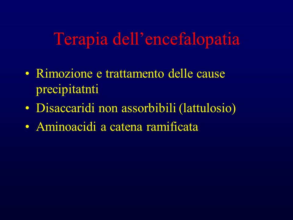 Terapia dell'encefalopatia