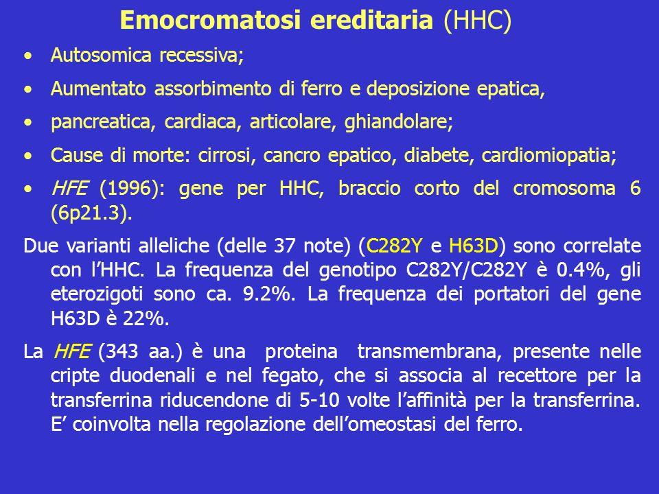 Emocromatosi ereditaria (HHC)