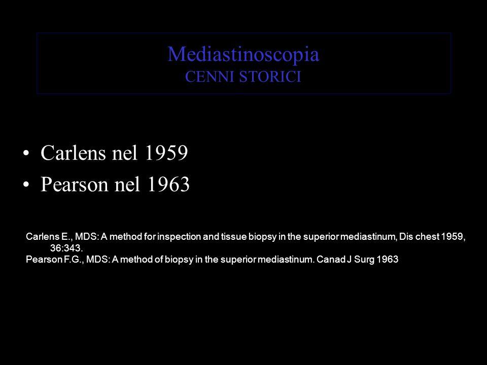 Mediastinoscopia CENNI STORICI