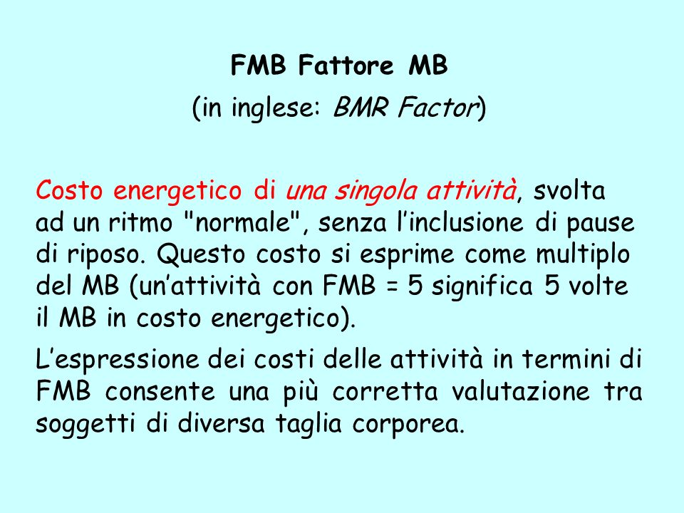 (in inglese: BMR Factor)