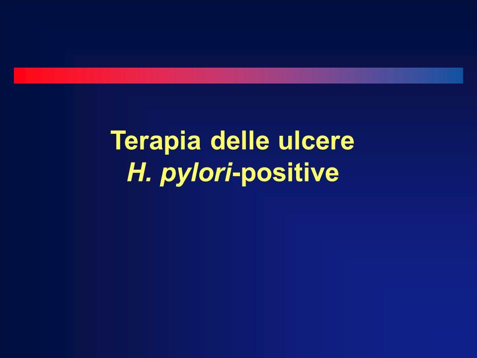 Terapia delle ulcere H. pylori-positive
