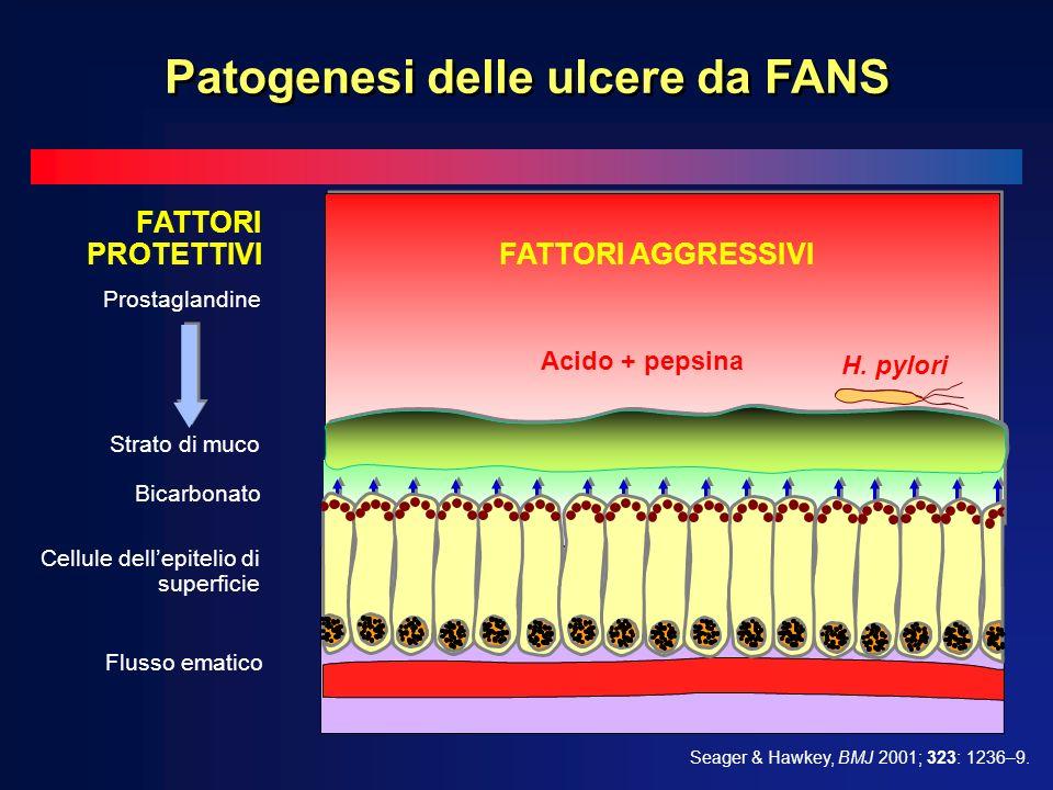 Patogenesi delle ulcere da FANS