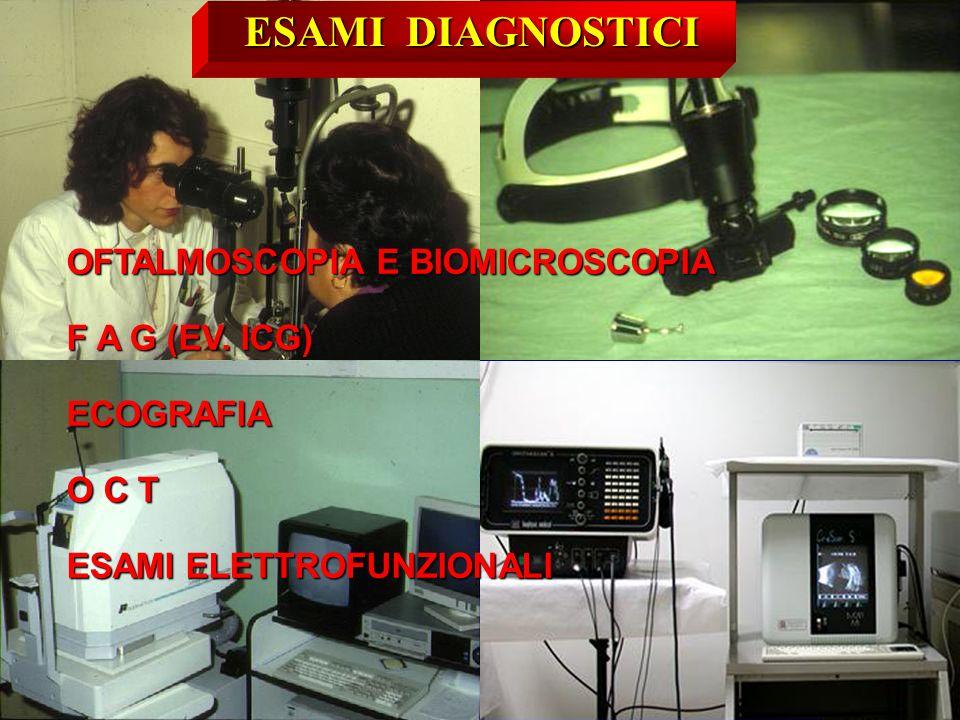 ESAMI DIAGNOSTICI OFTALMOSCOPIA E BIOMICROSCOPIA F A G (EV. ICG)