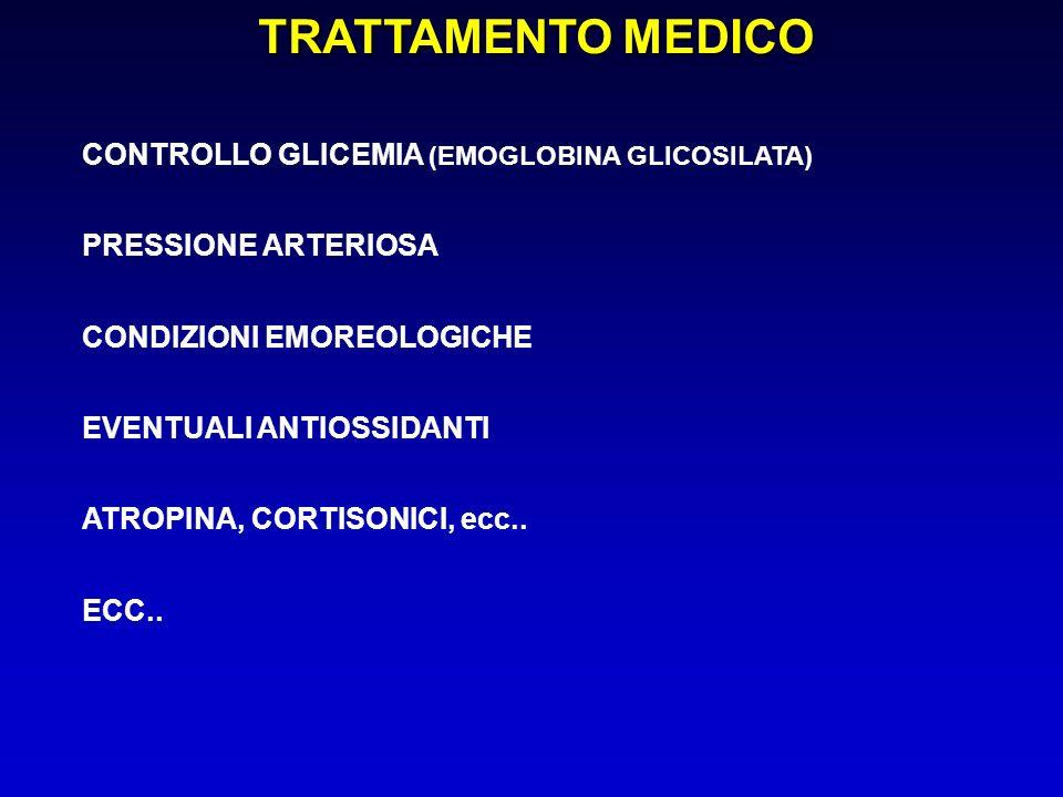 TRATTAMENTO MEDICO CONTROLLO GLICEMIA (EMOGLOBINA GLICOSILATA)