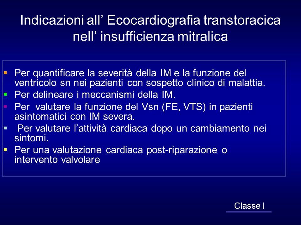 Indicazioni all' Ecocardiografia transtoracica nell' insufficienza mitralica