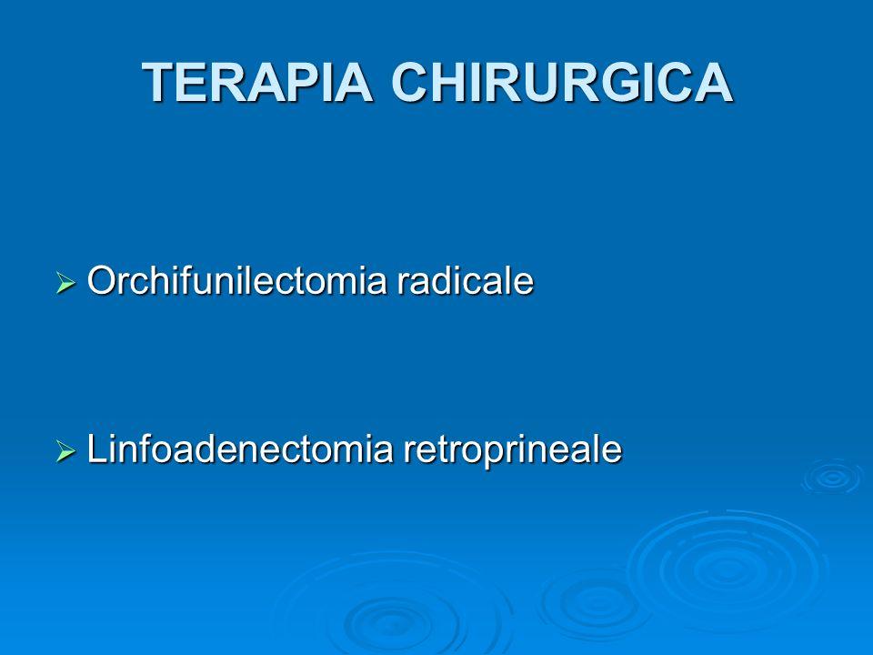 TERAPIA CHIRURGICA Orchifunilectomia radicale