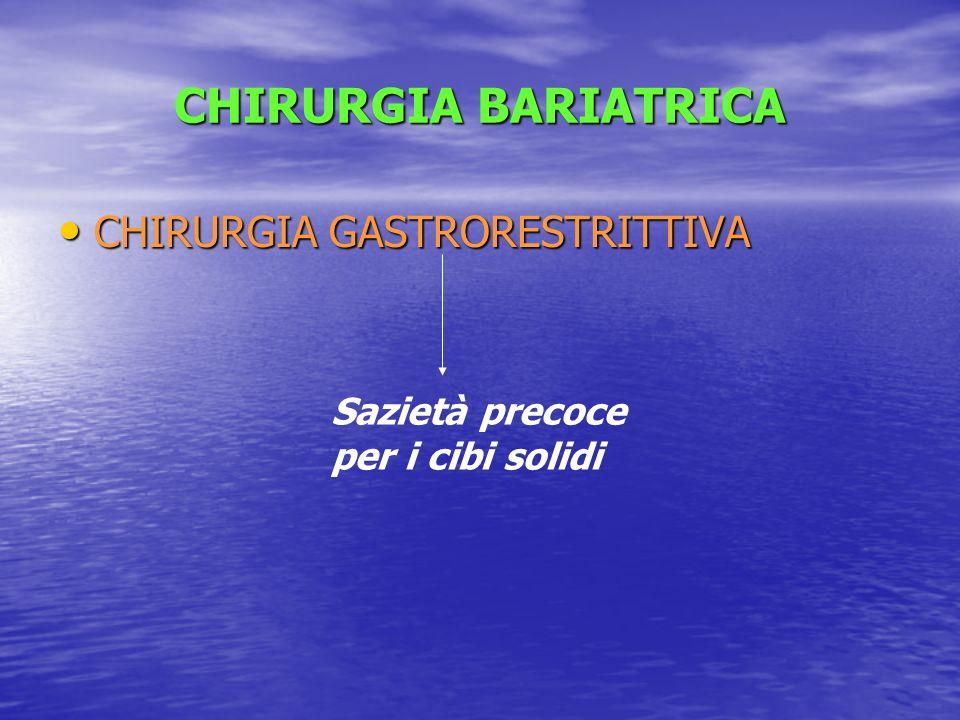 CHIRURGIA BARIATRICA CHIRURGIA GASTRORESTRITTIVA