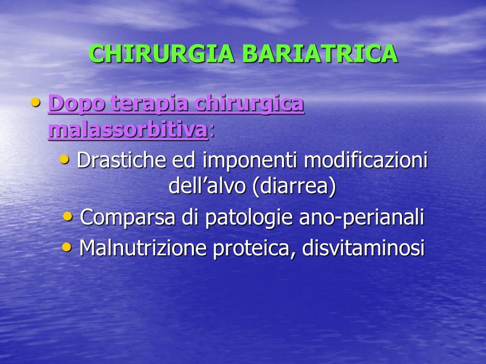 CHIRURGIA BARIATRICA Dopo terapia chirurgica malassorbitiva: