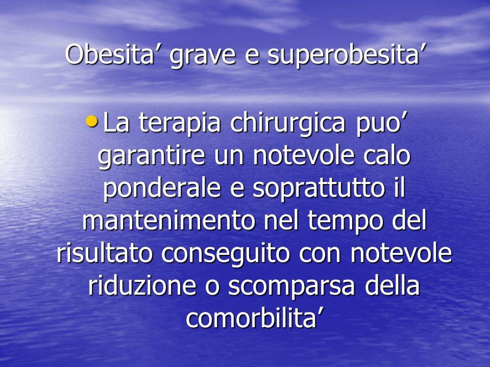 Obesita' grave e superobesita'