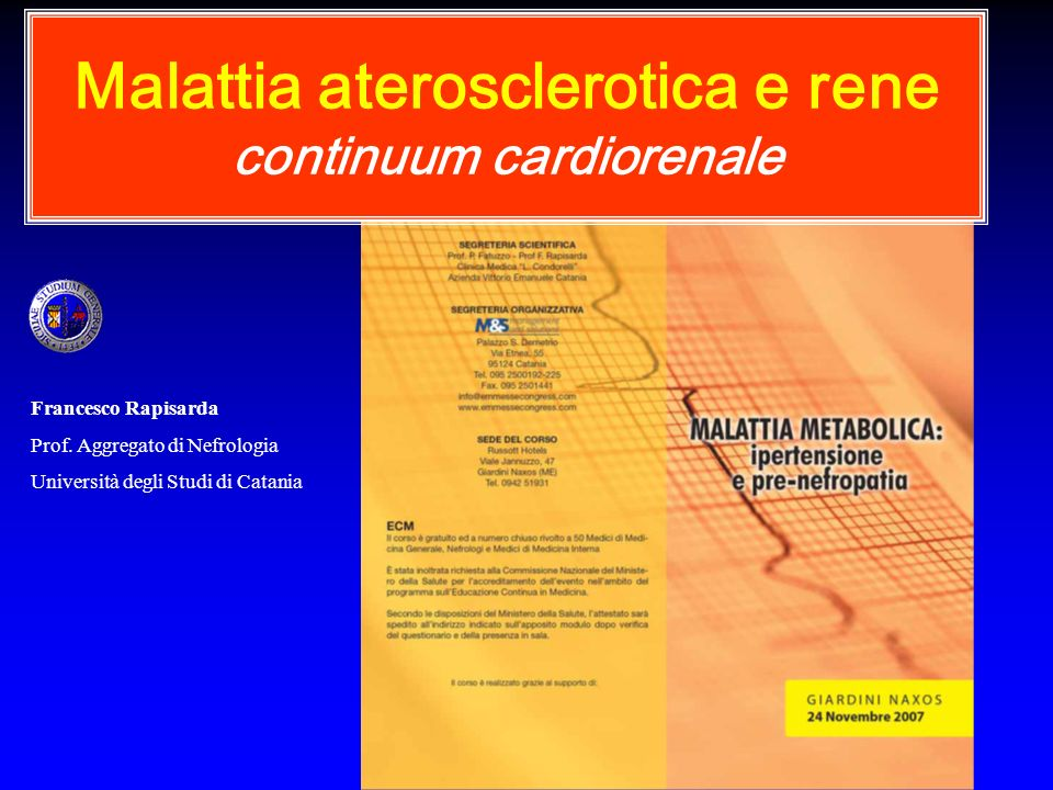 Malattia aterosclerotica e rene continuum cardiorenale