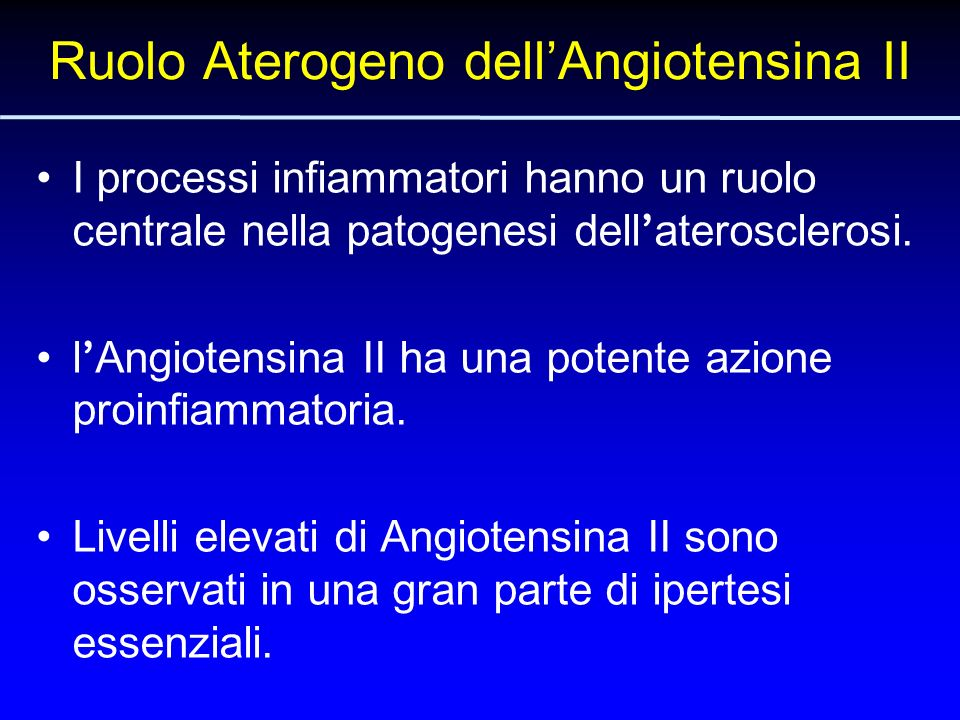 Ruolo Aterogeno dell'Angiotensina II