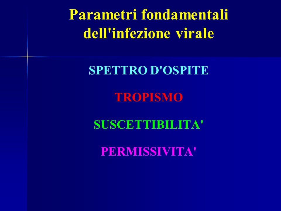 Parametri fondamentali dell infezione virale