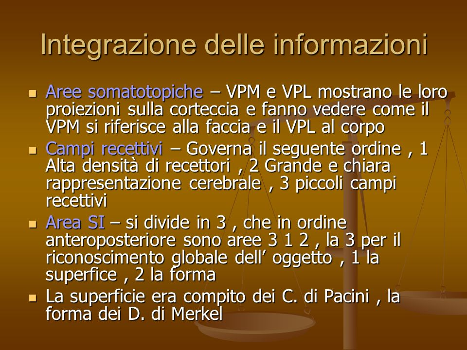 Integrazione delle informazioni