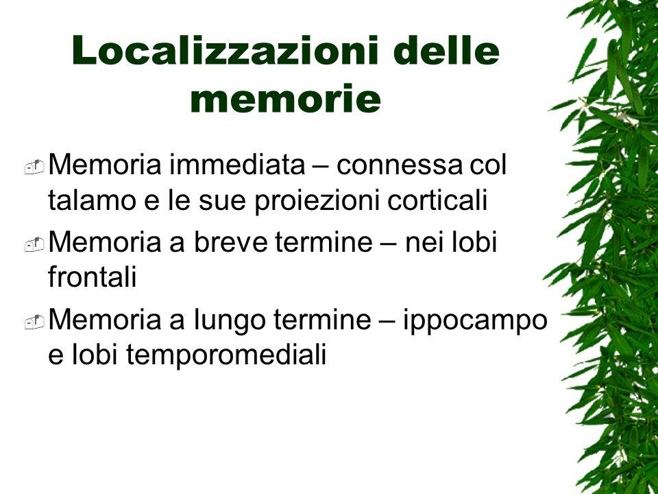Localizzazioni delle memorie
