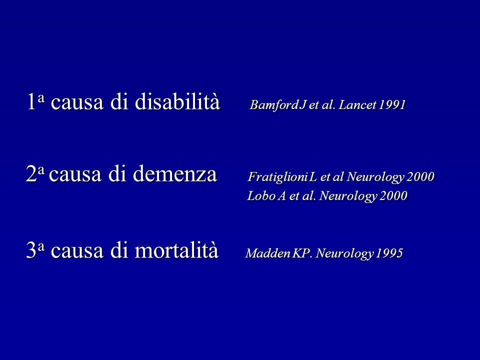 1a causa di disabilità Bamford J et al. Lancet 1991