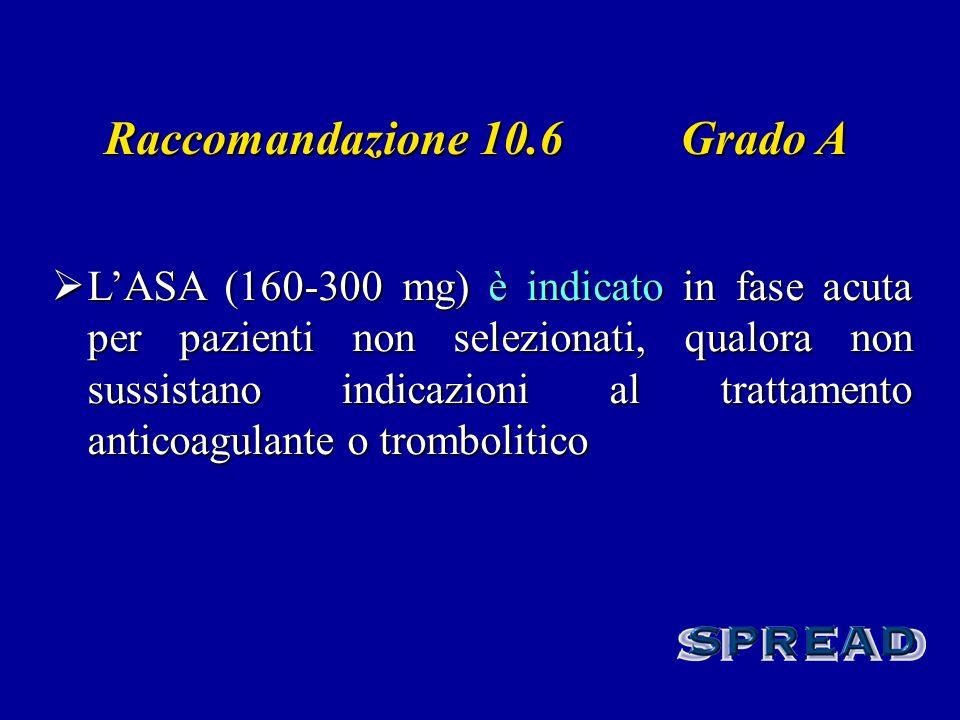 Raccomandazione 10.6 Grado A