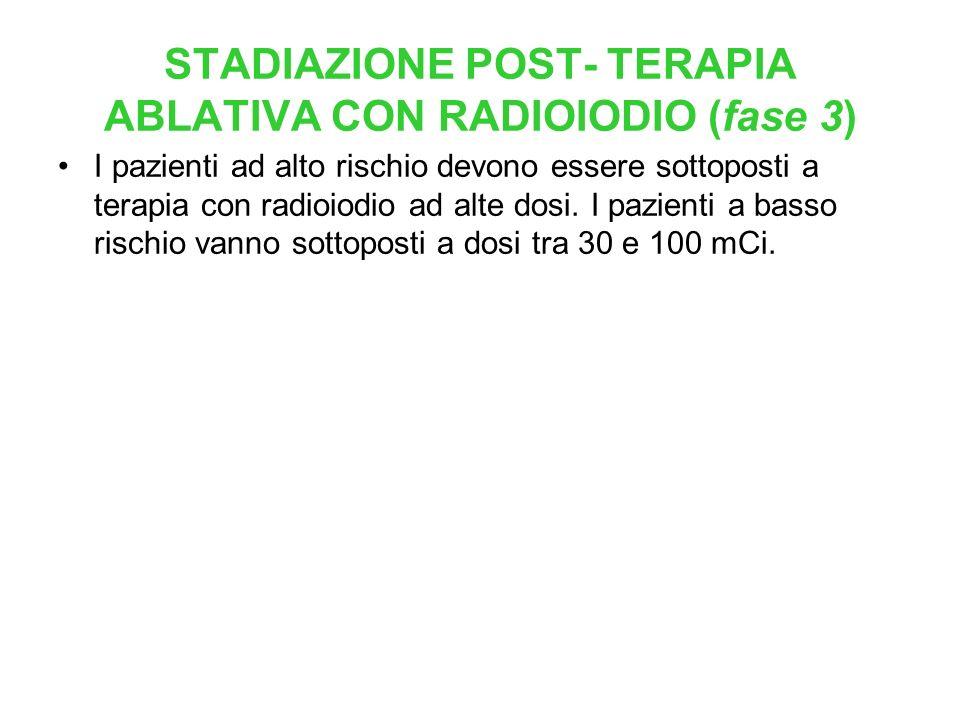STADIAZIONE POST- TERAPIA ABLATIVA CON RADIOIODIO (fase 3)