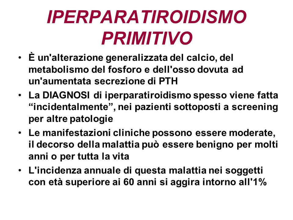 IPERPARATIROIDISMO PRIMITIVO
