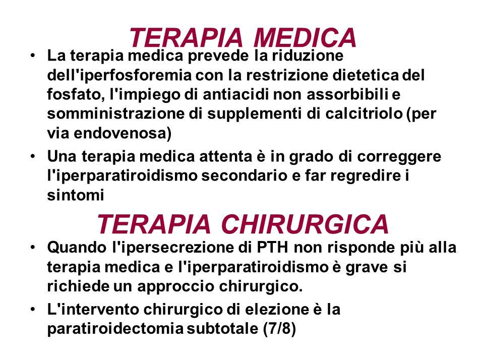 TERAPIA MEDICA TERAPIA CHIRURGICA