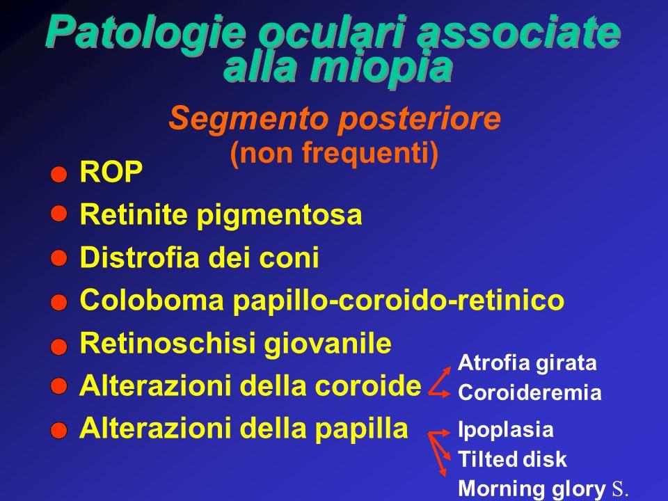 Patologie oculari associate