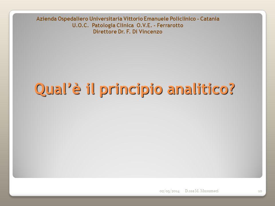 Qual'è il principio analitico