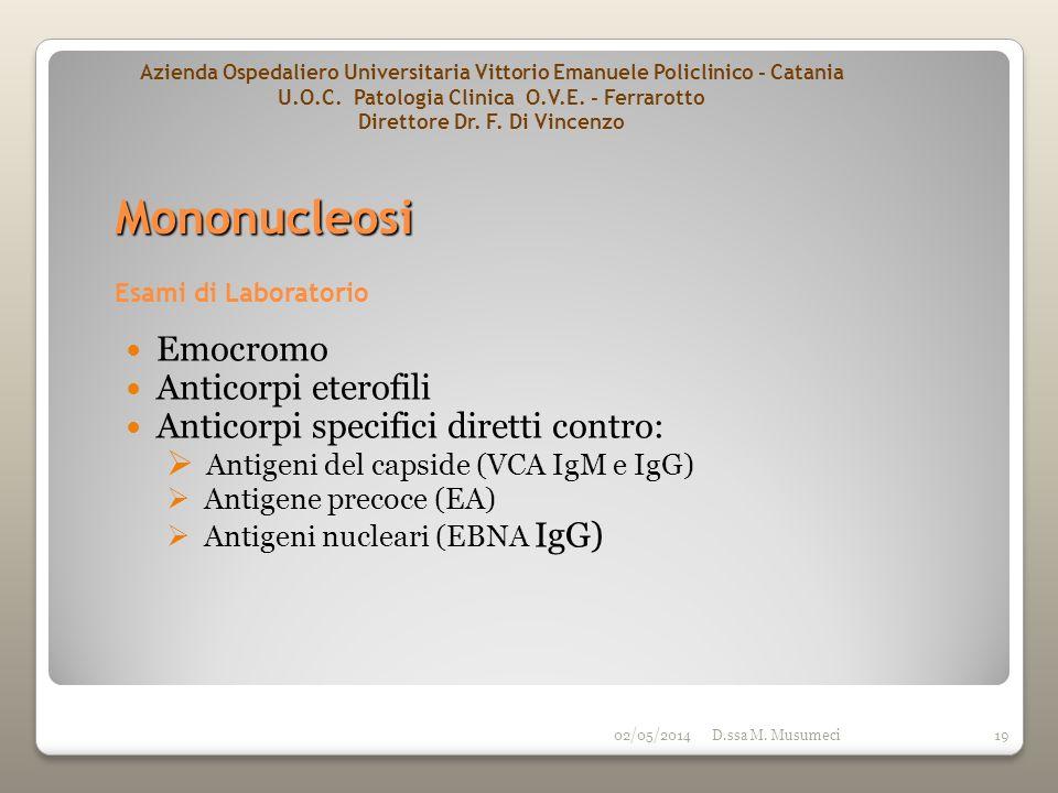 Mononucleosi Emocromo Anticorpi eterofili