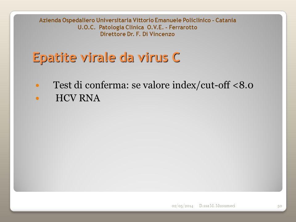Epatite virale da virus C