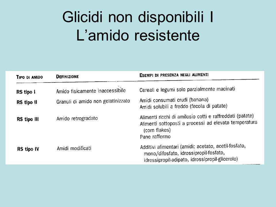 Glicidi non disponibili I L'amido resistente