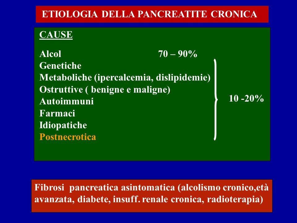 ETIOLOGIA DELLA PANCREATITE CRONICA