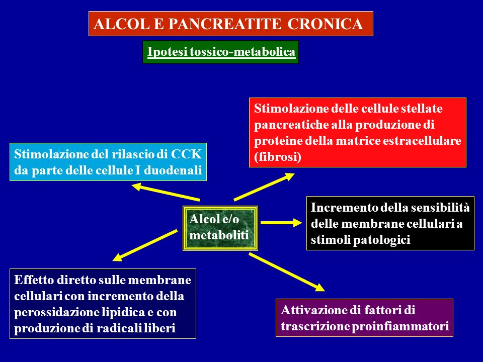 ALCOL E PANCREATITE CRONICA