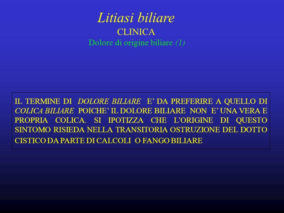 Litiasi biliare CLINICA Dolore di origine biliare (1)