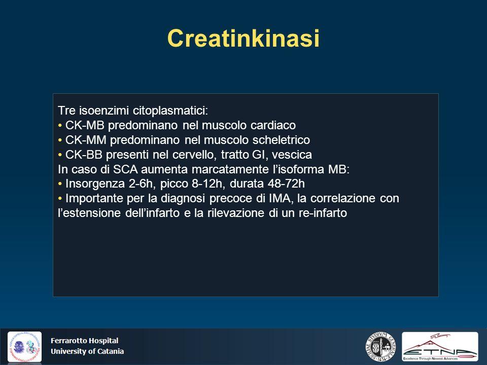 Creatinkinasi Tre isoenzimi citoplasmatici: