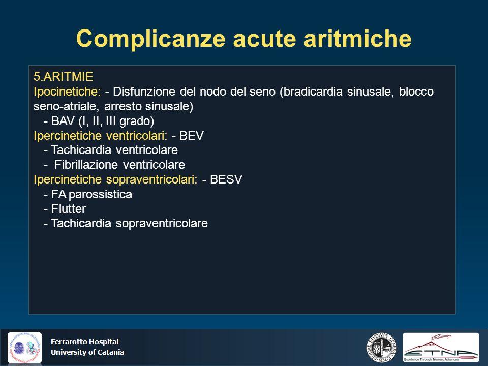 Complicanze acute aritmiche