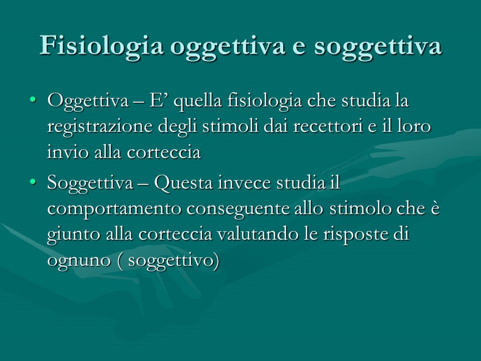 Fisiologia oggettiva e soggettiva