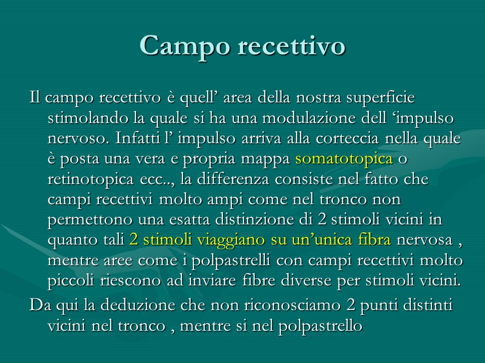 Campo recettivo