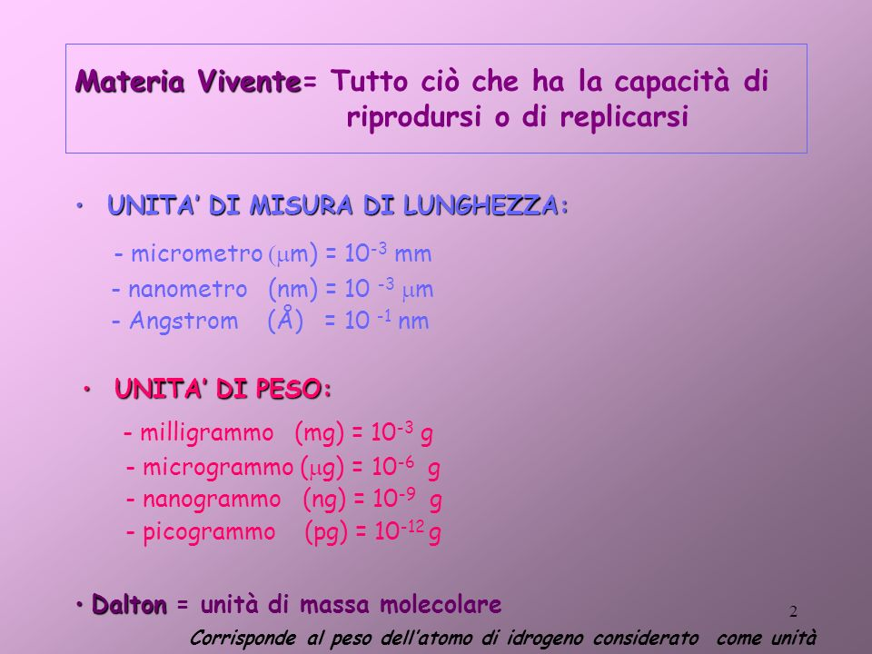 - micrometro (mm) = 10-3 mm - milligrammo (mg) = 10-3 g