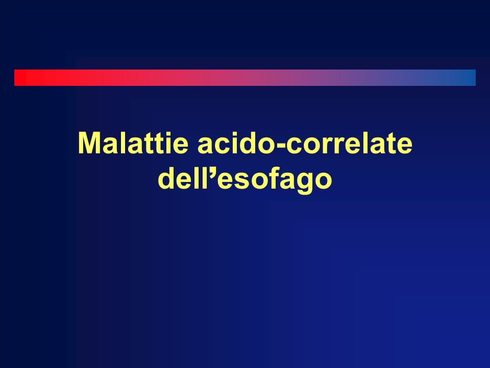 Malattie acido-correlate dell'esofago
