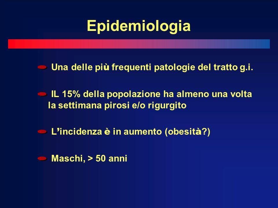 Epidemiologia Una delle più frequenti patologie del tratto g.i.