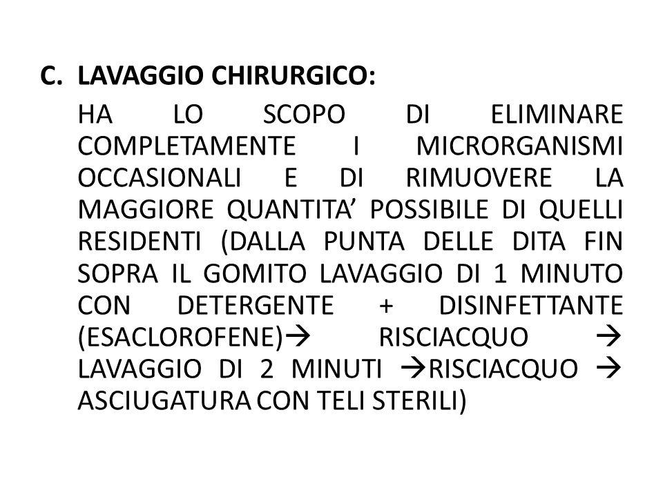 LAVAGGIO CHIRURGICO: